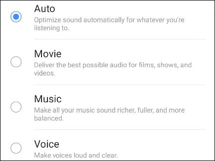 pofiles de áudio para dolby atmos