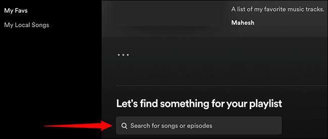 """Clique em """"Vamos encontrar algo para sua lista de reprodução"""" no Spotify."""
