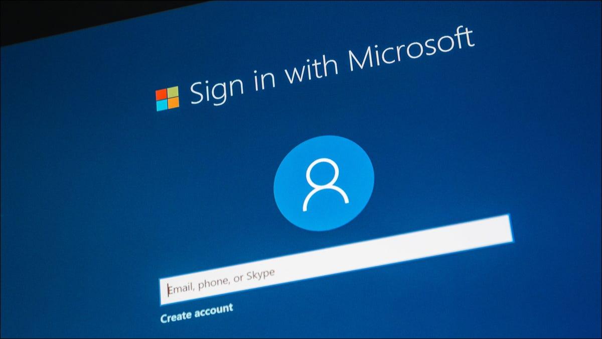Login da Microsoft