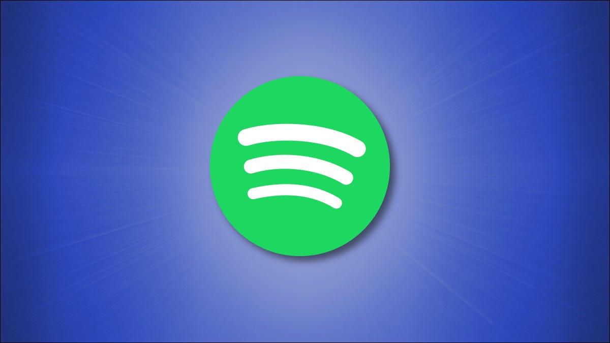Logotipo do Spotify em fundo azul