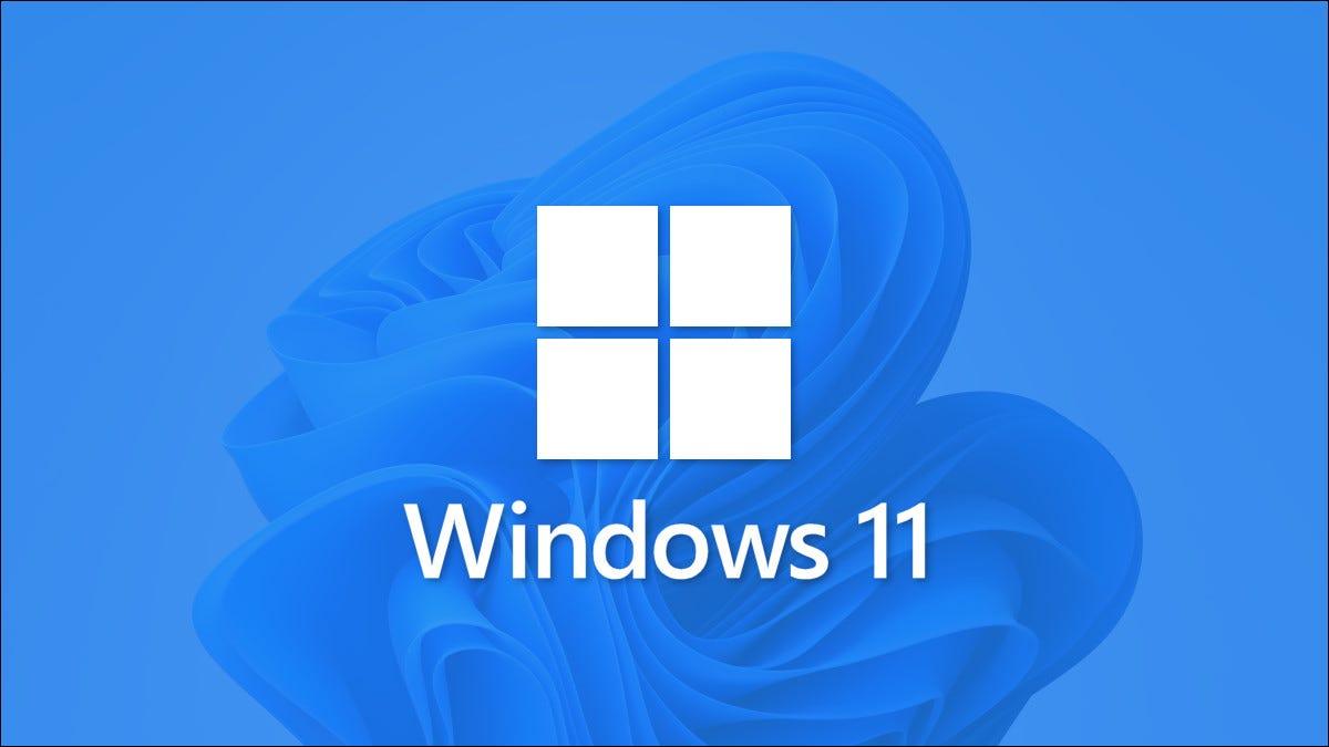 Logotipo do Windows 11 com papel de parede